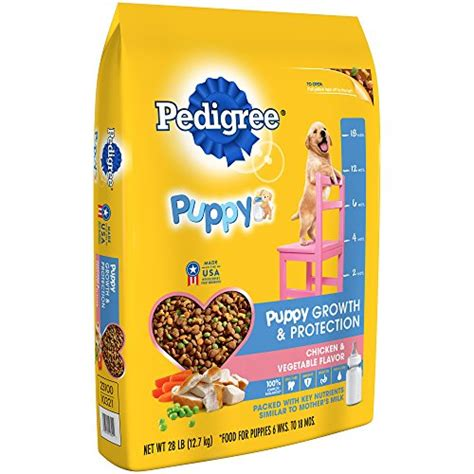 pedigree puppy growth and protection pedigree puppy growth protection chicken vegetable flavor food 28 pounds