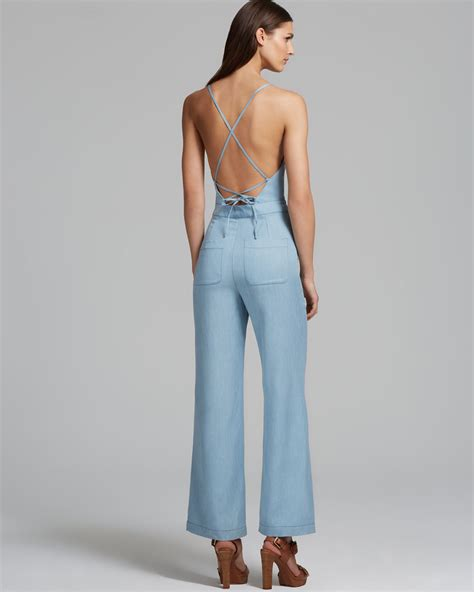 Jumpsuit Light dolce vita jumpsuit lola chambray in blue lyst