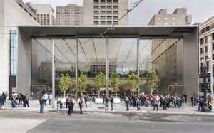 Store In San Francisco Foster Partners Apple Store Opens In San Francisco