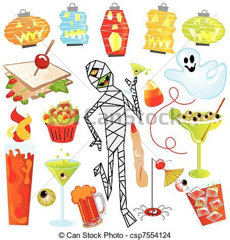 eps vector of halloween party clip art with finger