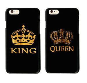 cute couple phone case king queen case cover  iphone