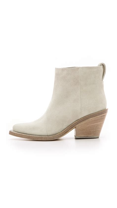 acne studios donna suede boots in white lyst