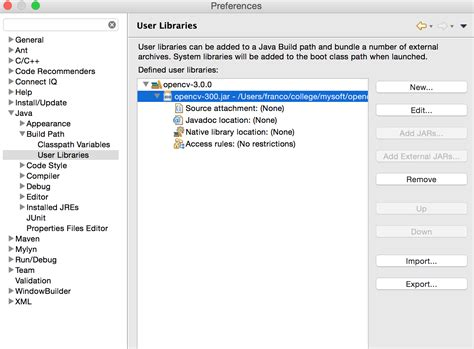 tutorial java mac os x install and use opencv 3 0 on mac os x with eclipse java