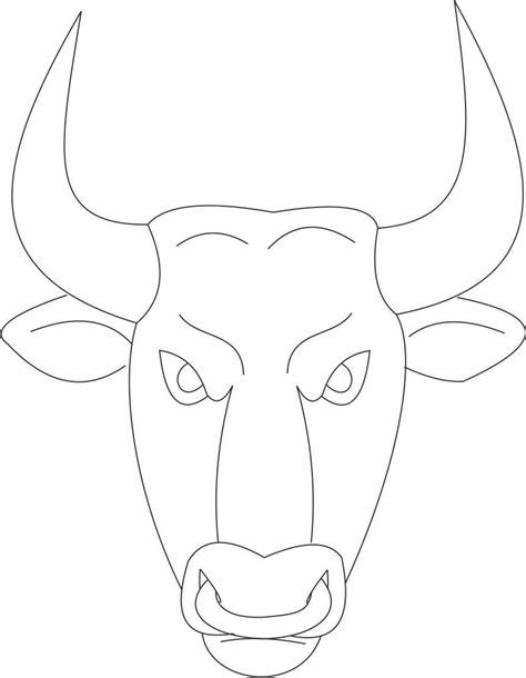 bull mask template bull mask printable coloring page for