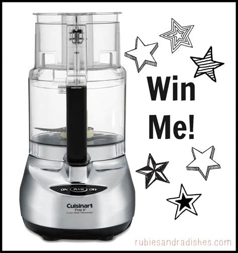 September Giveaway - september giveaway cuisinart 9 cup food processor 270 value closed rubies