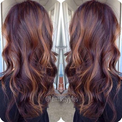 mahogany hair color ideas ombre balayage hairstyles