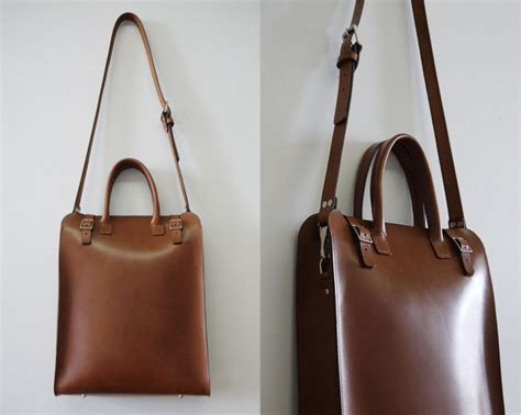 Handmade Bag - handmade leather tote bag handmade carryall basader