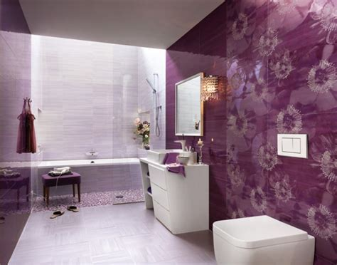 purple and white bathroom bathroom purple white floral divine bathroom ceramic tile