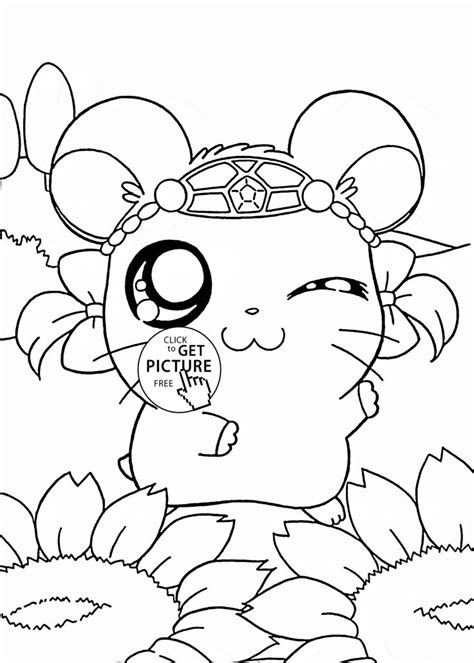anime coloring book printouts hamtaro coloring page for anime coloring