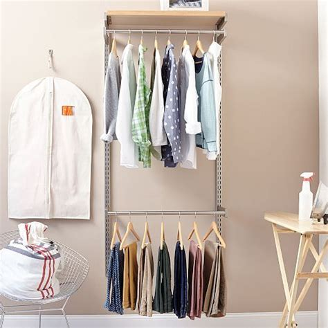 Shelves That Hang From Closet Rod by The Hang It Set Includes 2 Closet Rods 1 Fixed Shelf 2 Wall Mounted Vertical Rails