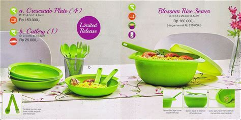 Katalog Tupperware Blossom blossom rice server tupperware promo april 2015