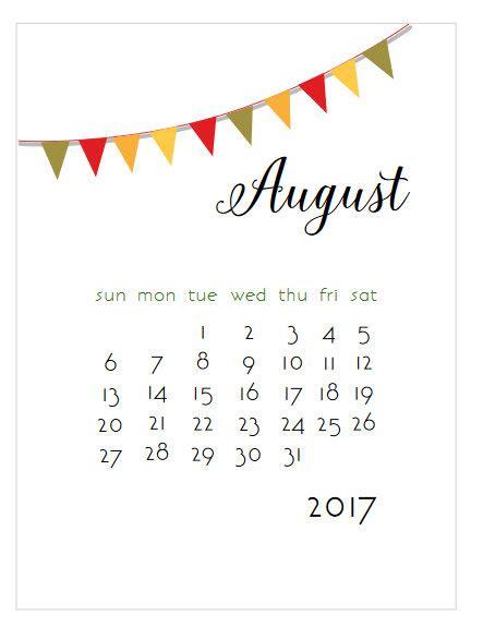 Calendario 2017 Agosto Para Imprimir Calendario Mensual Calendario 2017