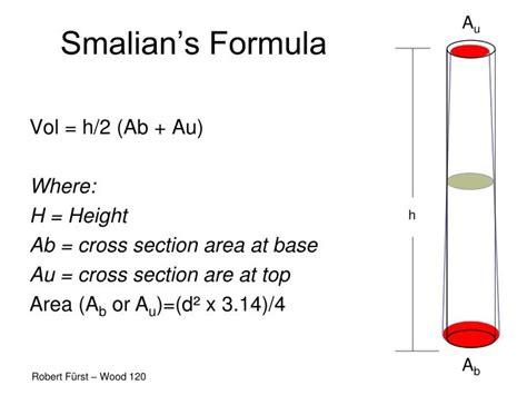 cross section area formula ppt wood 120 lumber volume powerpoint presentation