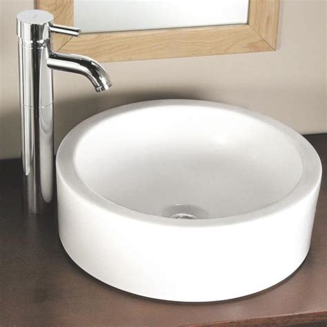 Above Counter Kitchen Sinks American Standard Bathroom Sink Tess Above Counter Canaroma Bath Tile