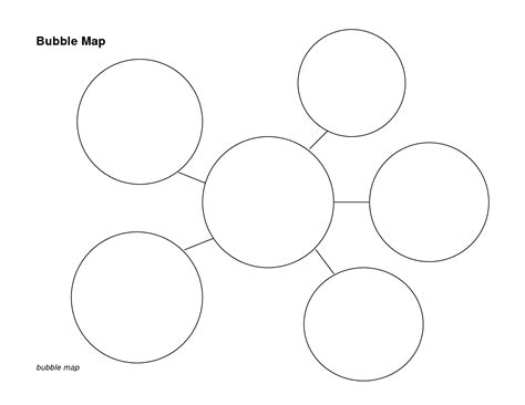 printable graphic organizers 5 best images of bubble graphic organizer printable
