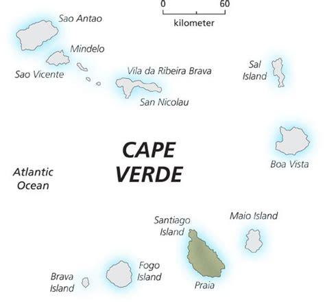 cape verde islands map cape verde island map cape verde africa mappery