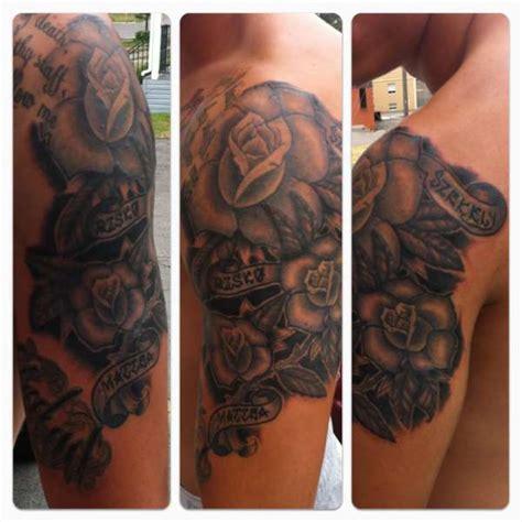 family tattoo half sleeve ideas half sleeve roses for family tattoo
