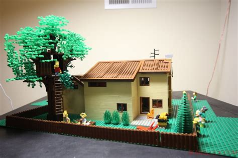 Treehouse For Backyard by Moc The Simpsons Bart S Tree House Backyard Lego