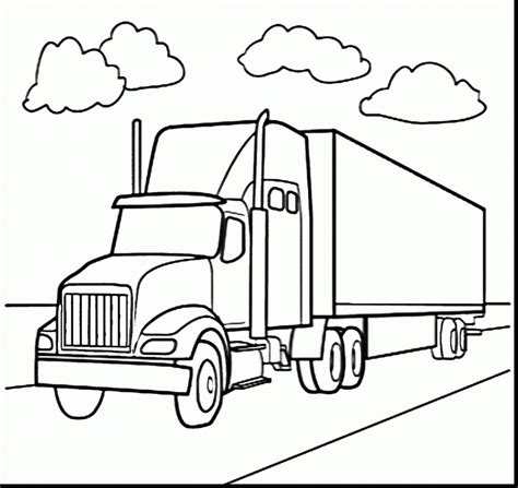 coloring pages horse trailer amazing semi truck coloring page model ways to use
