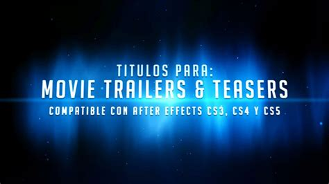 free after effects template quot movie trailers teasers