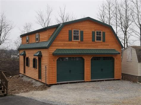 gambrel roof garages gambrel 2 story garage doublewide garages stoltzfus