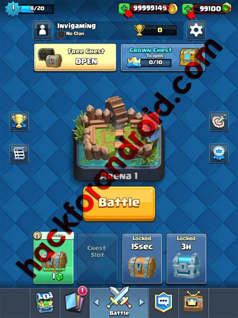 hacked android clash royale hack hackforandroid