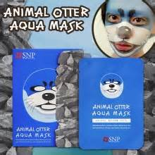 Masker Wajah Limited Otter Aqua Mask Snp Animal Mask Masker box korea berrisom horror mask 25ml black rice