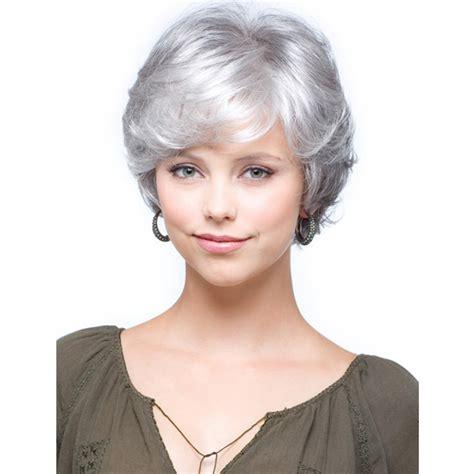 grey bob for old women short bob wigs for white women short silver grey wig for women synthetic short curly bob