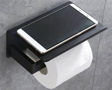toilet paper shelf apl toilet paper holder with phone storage shelf tools