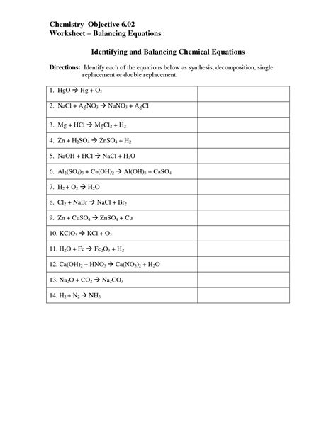 14 best images of chemical reactions worksheet types chemical reactions worksheets answers