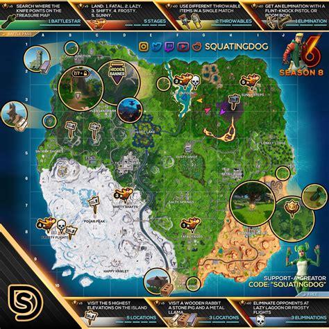 fortnite cheat sheet map  season  week  challenges