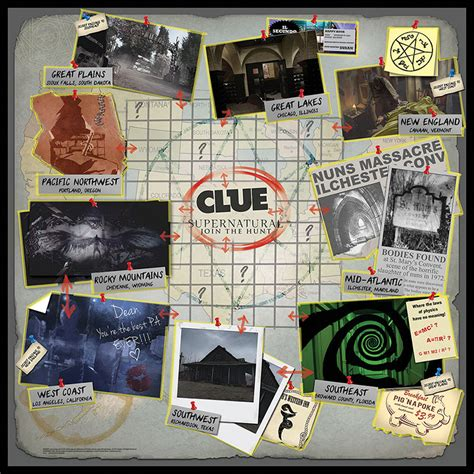 Barnes Menu Clue Supernatural Collector S Edition Clue Game Usaopoly
