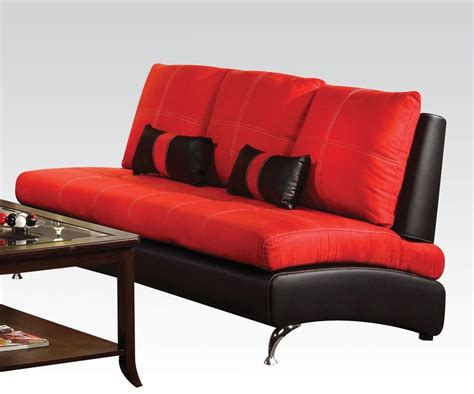 red suede sofa jolie red suede black pu sofa with pillows
