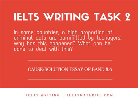 Ielts Essay Writing Task 2 by Ielts Materials Ielts Writing Task 2 Cause Solution Essay Of Band