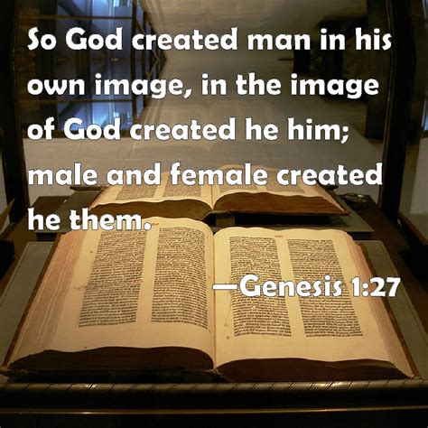 his image genesis 1 27 so god created in his own image in the