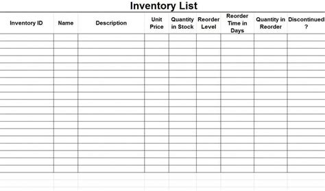 stocktake sheet exle free inventory control spreadsheet