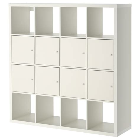 ikea shelving kallax shelving unit with 8 inserts white 147x147 cm ikea