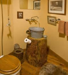 Beauty antique looking bathroom vanities using round log