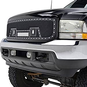 Jeep Office Bag Val6053 e autogrilles 99 04 ford duty f 250 f 350 rivet black stainless steel wire