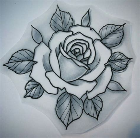 old school tattoo outlines traditional rose tattoo outlines www pixshark com