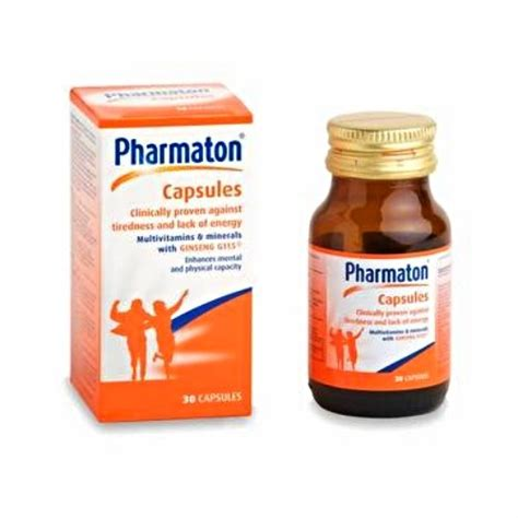 Pharmaton Ginseng pharmaton capsules 1 month bottle size combats stress fatigue tiredness exhaustion ginseng g115