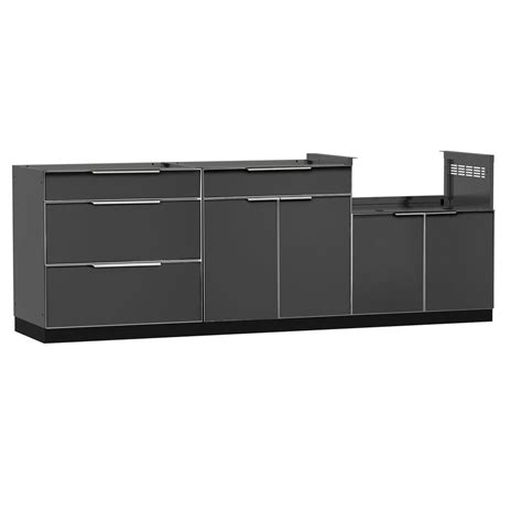 outdoor kitchen cabinets home depot newage products stainless steel classic 4 piece 97x36x24