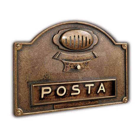 buca per lettere placca bucalettere in ottone con pulsante per canello e
