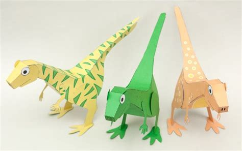 How To Make A Dinosaur Model From Paper Mache - 17 best images about paper craft dino on