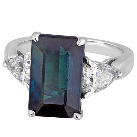 Blue Saphire Oktagon certified no heat 7 48 carat green blue octagon step cut