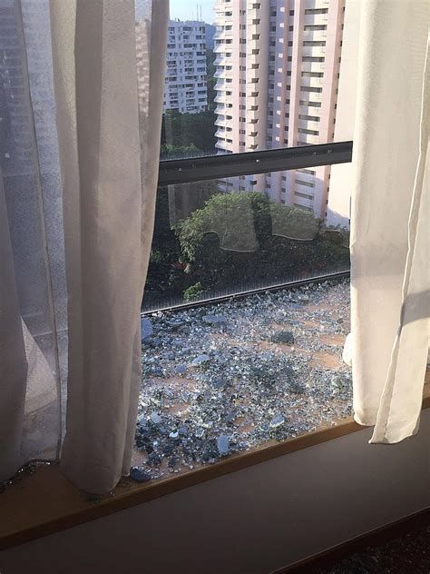 find    window   condo spontaneously shattered home decor singapore
