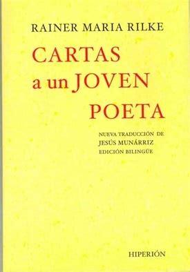 libro cartas a una joven cartas a una joven poeta libros hiperion por rainer maria