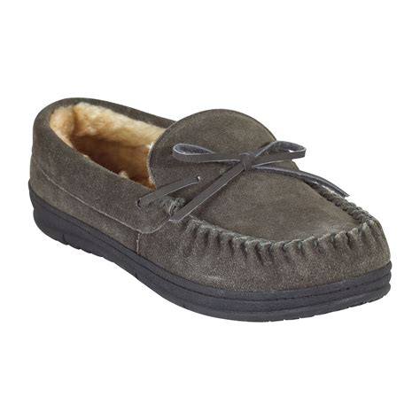 mens slippers kmart route 66 s trapper moc slipper grey
