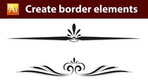 design elements creating style through adobe illustrator tutorial how to create calligraphic border elements 01