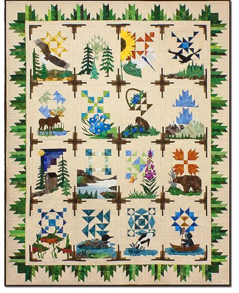 nature quilt pattern the northern wilderness quilt project is a spectacular